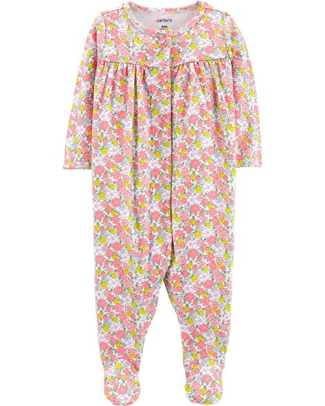 Display product reviews for Floral Snap-Up Cotton Sleep & Play