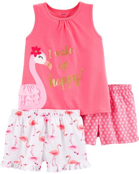 81c9529528fe Display product reviews for 3-Piece Flamingo Poly PJs