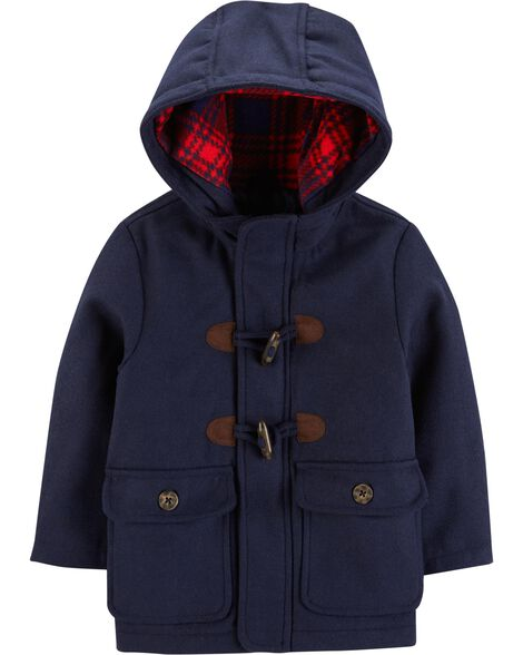 Display product reviews for Hooded Faux Wool Jacket