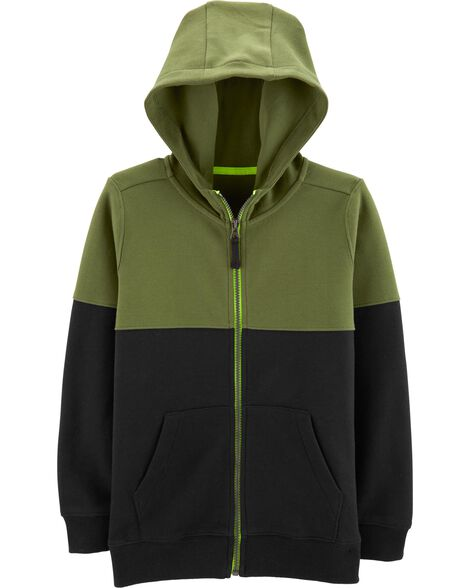 Display product reviews for Colorblock Zip-Up Hoodie