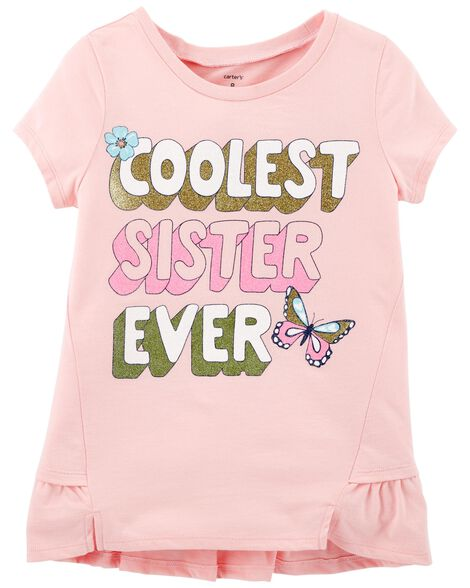 Display product reviews for Coolest Sister Ever Ruffle Matchtastic Tee