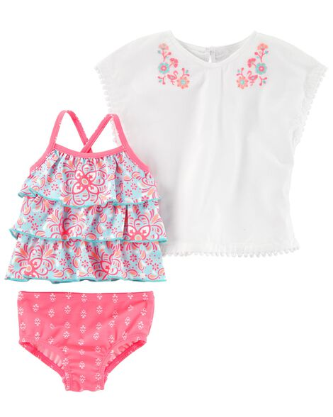 Display product reviews for 3-Piece Tankini & Cover-Up Set