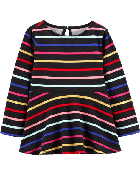 Display product reviews for Striped Peplum Tunic