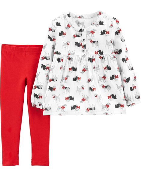 Display product reviews for 2-Piece Dog Sateen Top & Legging Set