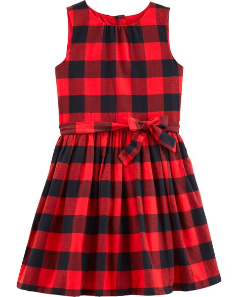 Display product reviews for Buffalo Check Flannel Holiday Dress
