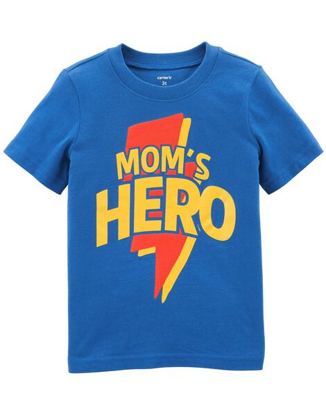 Display product reviews for Mom's Hero Jersey Tee