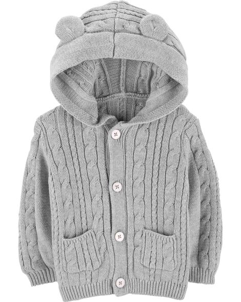 Display product reviews for Cable Knit Cardigan with Ears