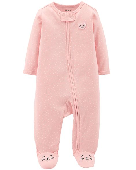 Display product reviews for Zip-Up Cat Cotton Sleep & Play
