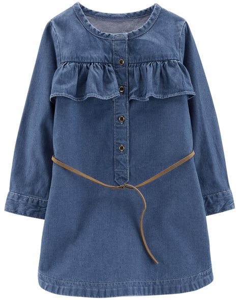 Display product reviews for Denim Belted Dress
