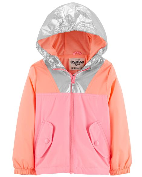 Display product reviews for Metallic Colorblock Jacket
