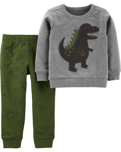 Display product reviews for 2-Piece Dinosaur Pullover & Jogger Set