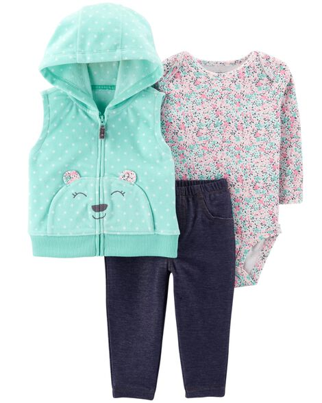 Display product reviews for 3-Piece Bear Little Vest Set