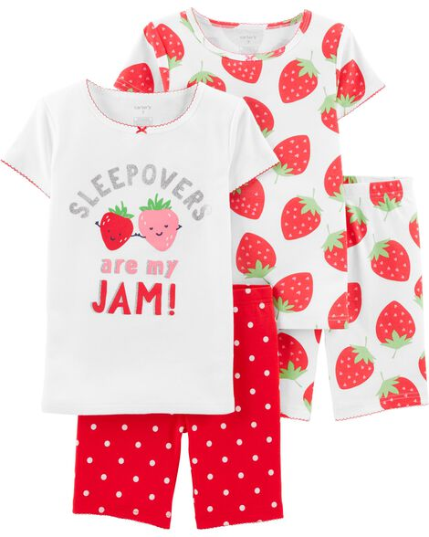 6f3469a9b Display product reviews for 4-Piece Strawberry Snug Fit Cotton PJs