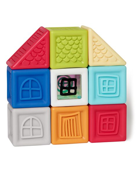 Display product reviews for Vibrant Village Squeeze & Squeak Blocks