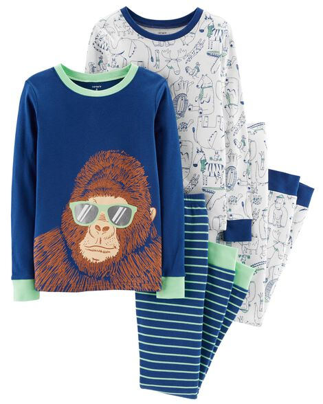 Display product reviews for 4-Piece Gorilla Snug Fit Cotton PJs
