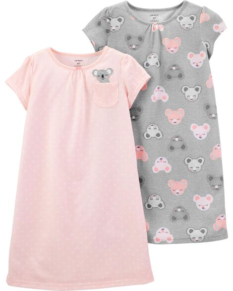 Display product reviews for 2-Pack Koala Nightgowns