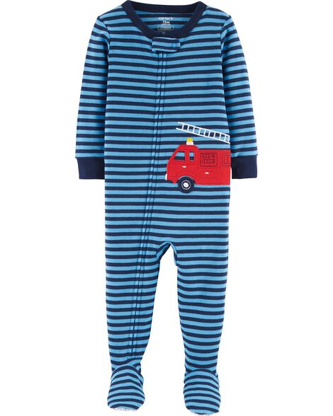 Display product reviews for 1-Piece Firetruck Snug Fit Cotton PJs