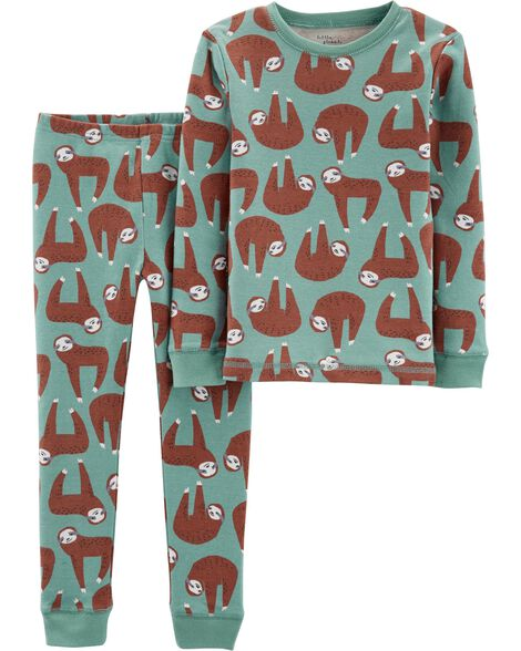 435d775df49 2-Piece Certified Organic Cotton Snug Fit PJs