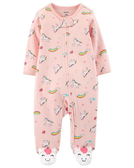 Display product reviews for Unicorn Zip-Up Cotton Sleep & Play