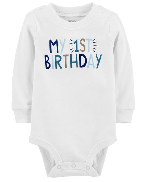 Display product reviews for My 1st Birthday Bodysuit