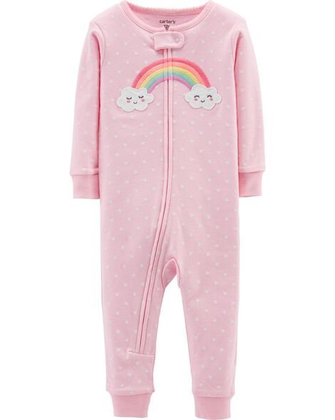 Display product reviews for 1-Piece Rainbow Snug Fit Cotton Footless PJs