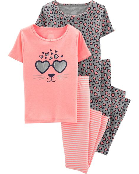 Display product reviews for 4-Piece Leopard Snug Fit Cotton PJs