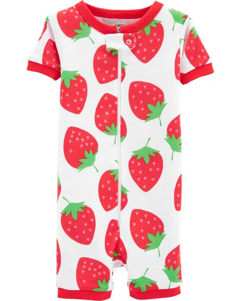 Display product reviews for 1-Piece Strawberry Snug Fit Cotton Sleep Romper
