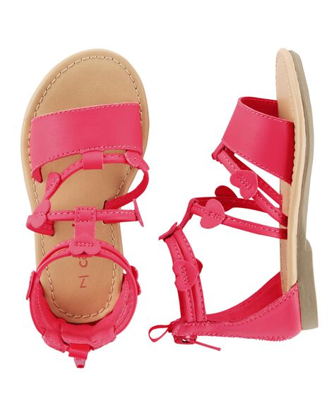 Display product reviews for Carter's Heart Strappy Sandals