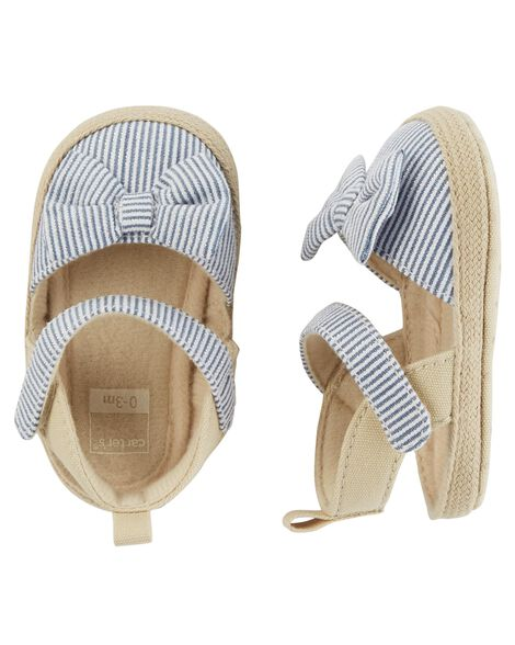 Display product reviews for Carter's Striped Espadrille Baby Shoes