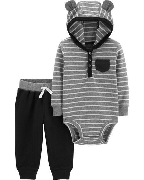 Display product reviews for 2-Piece Hooded Bodysuit Pant Set