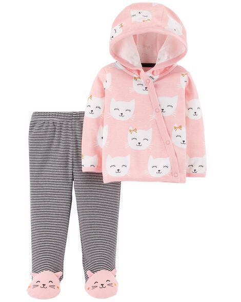 Display product reviews for 2-Piece Side-Snap Cardigan & Footed Pant Set