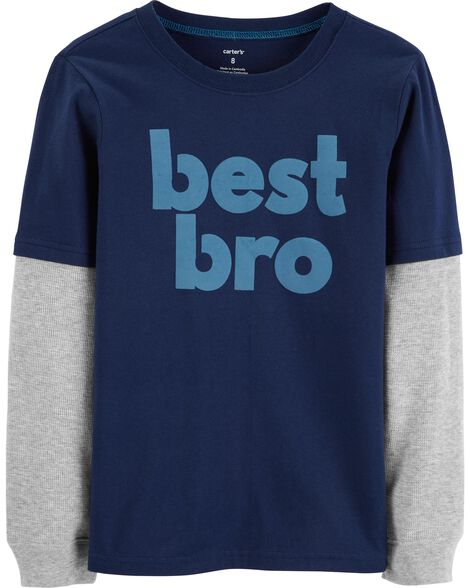 Display product reviews for Best Bro Layered-Look Terrific Tee