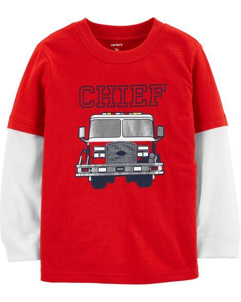 Display product reviews for Chief Firetruck Layered Look Tee