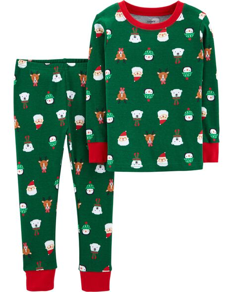 Display product reviews for 2-Piece Christmas Snug Fit Cotton PJs