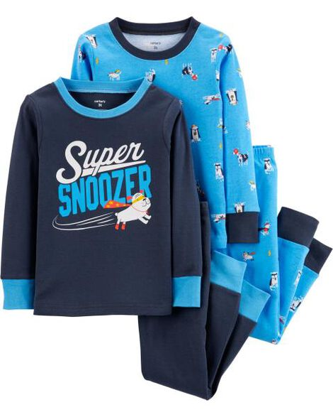 Display product reviews for 4-Piece Super Dog Snug Fit Cotton PJs
