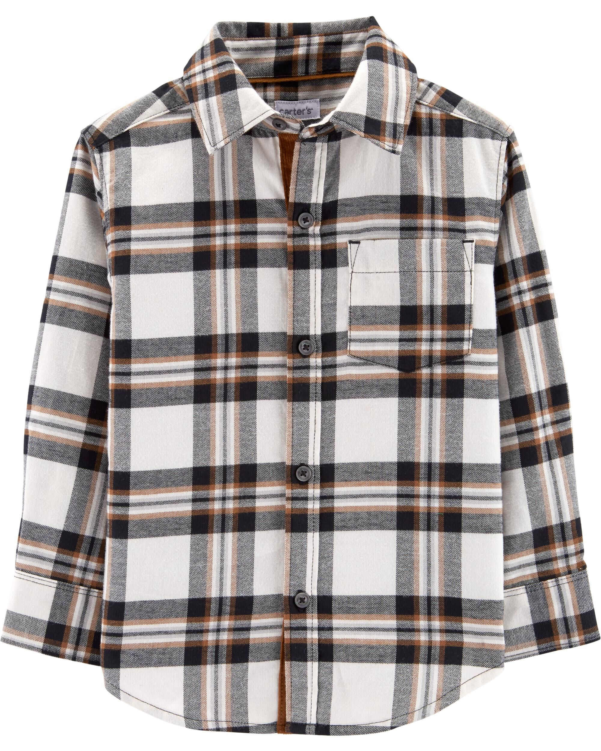 84a9f478c Plaid Twill Button-Front Shirt