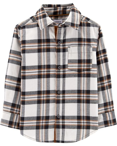 Display product reviews for Plaid Twill Button-Front Shirt