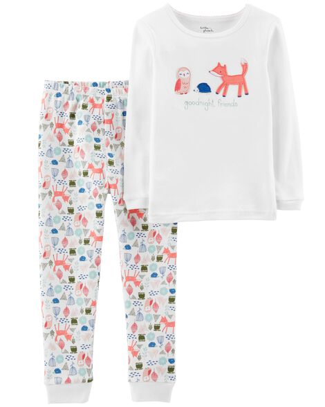 Display product reviews for 2-Piece Certified Organic Snug Fit Cotton PJs