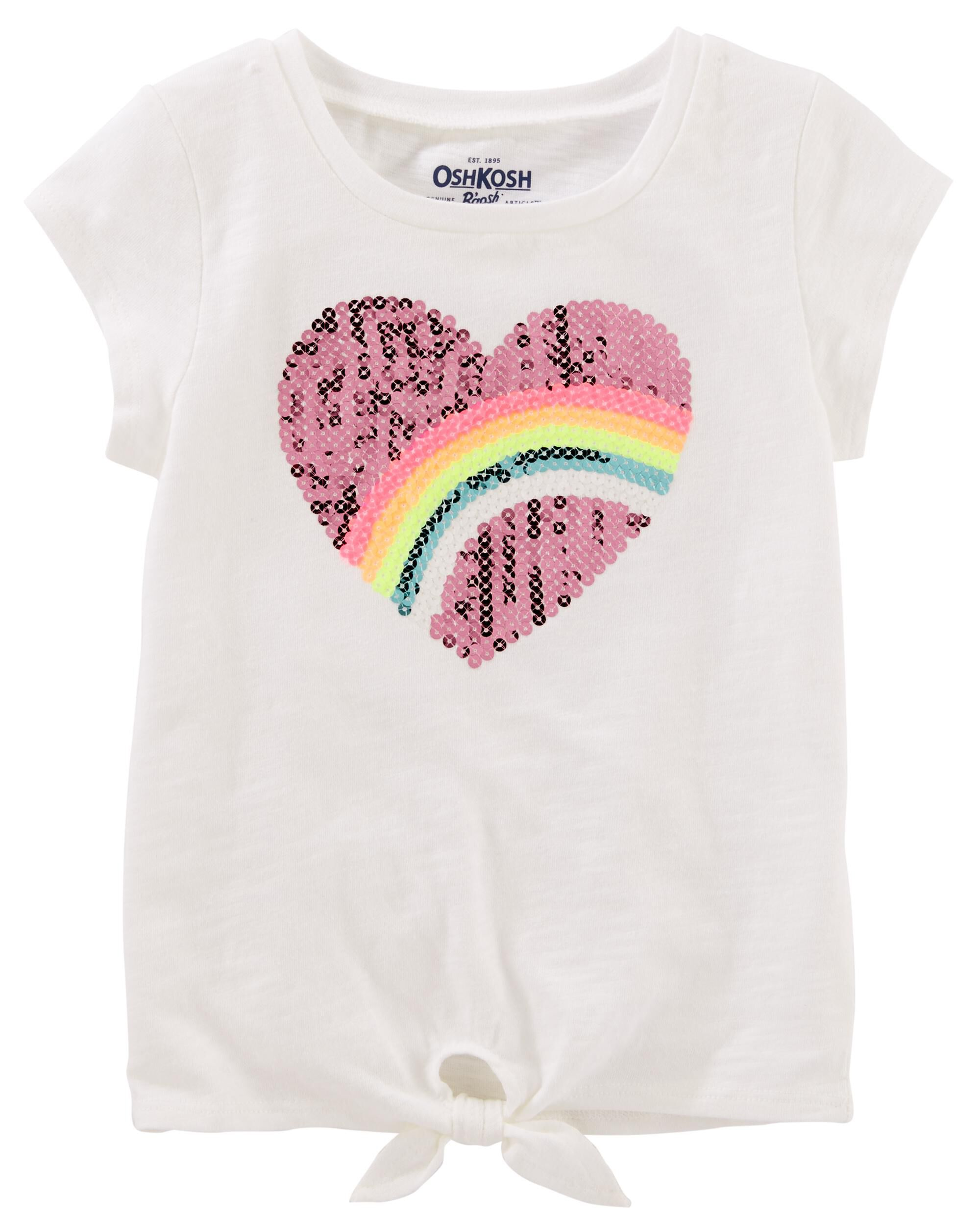 Display product reviews for Sequin Rainbow Tie Tee