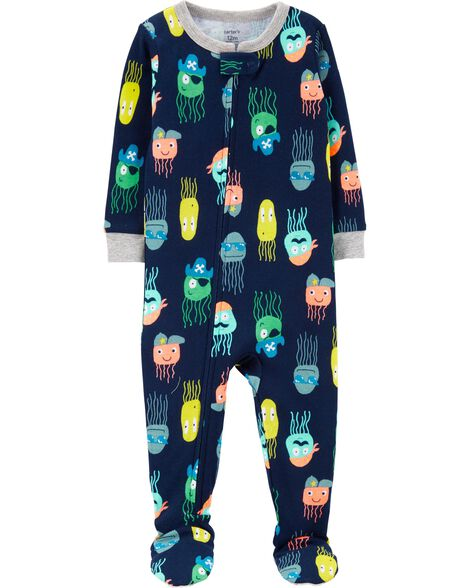 Display product reviews for 1-Piece Jellyfish Snug Fit Cotton Footie PJs c7103d838