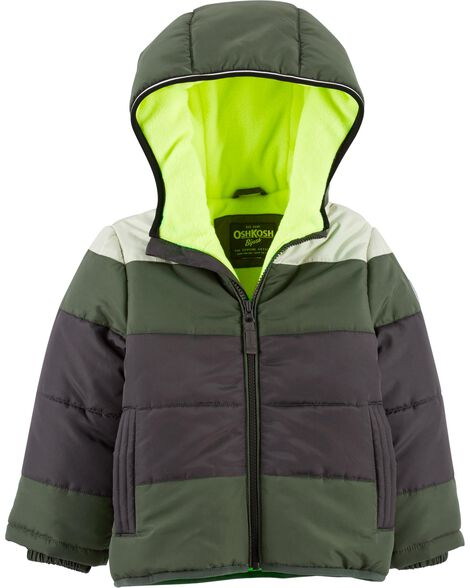 Display product reviews for Colorblock Bubble Jacket