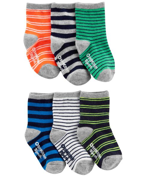 Display product reviews for 6-Pack Striped Crew Socks