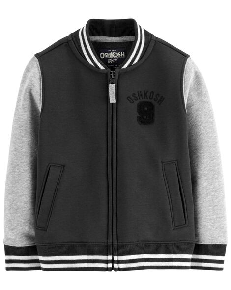 Display product reviews for Fleece Varsity Jacket