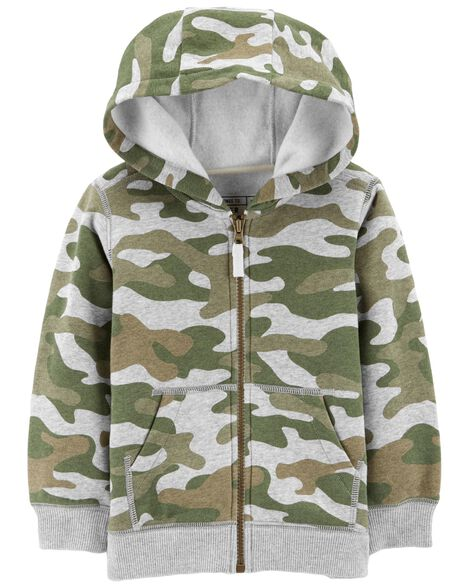 Display product reviews for Camo Zip-Up Hoodie