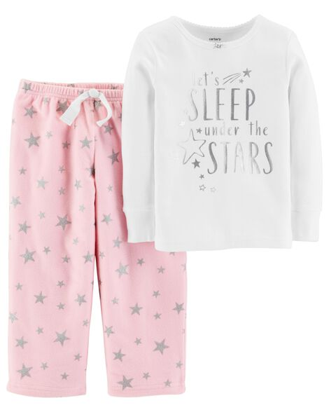Display product reviews for 2-Piece Foil Star Snug Fit Cotton & Fleece PJs