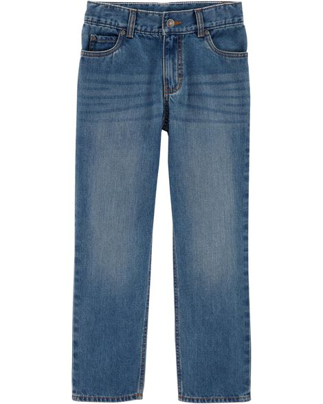 Display product reviews for Straight Fit Medium Wash Jeans