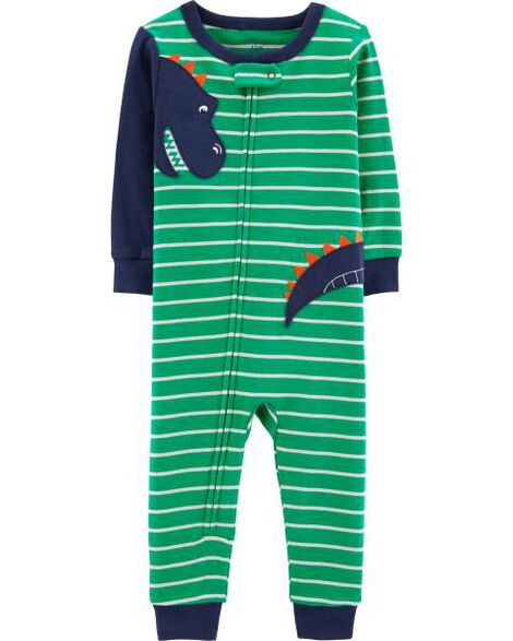Display product reviews for 1-Piece Dinosaur Snug Fit Cotton Footless PJs