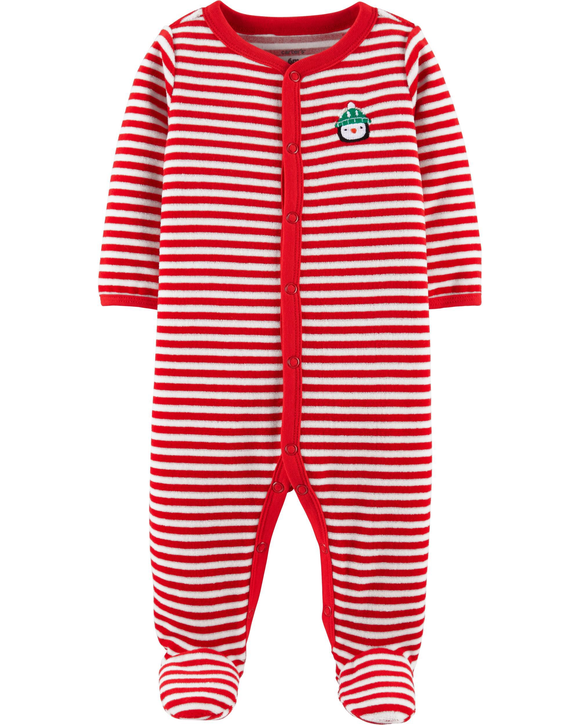baby girl christmas snap up velour sleep play carters com