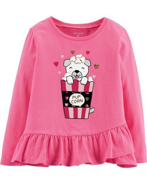 Display product reviews for Glitter Pup Corn Ruffle Tee