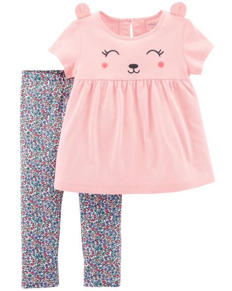 Display product reviews for 2-Piece Bear Top & Floral Legging Set